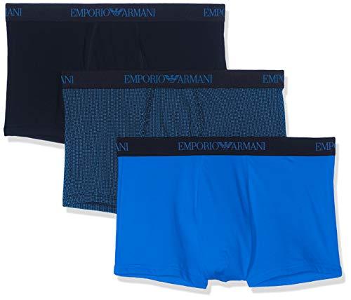 Emporio Armani Underwear, Herren Unterhosen 3er Pack,Blau (ONDA ST/Marine 25933), Medium
