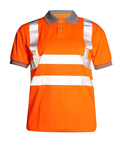 Fast Fashion Hi Viz Arbeit Tragen Graue Kragen Sicherheits Visability Polo-T-Shirt -