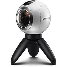 Samsung Gear 360 - Cámara 360 grados(sensor Dual CMOS 15 MP, objetivo ojo de pez dual f2.0), color blanco y negro