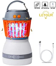 [Upgraded] Mosquito Zapper Outdoor Lantern LETOUR 4 Modes Dimmable Portable Light Quiet Efficient Mosquito Kil
