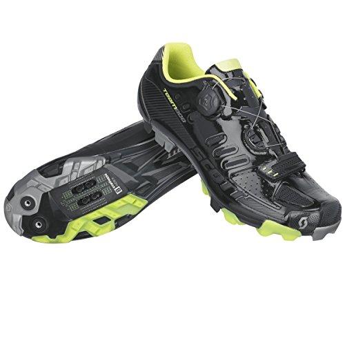 Scott MTB Team Boa Fahrrad Schuhe schwarz/grün 2016 black gloss/lime green