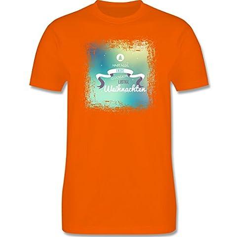 Weihnachten Kind - Frohe Weihnachten Bunt Vintage - 86-94 (2-3 Jahre) - Orange - L190K - Premium Kinder T-Shirt aus Baumwolle für Mädchen und