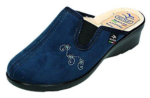 Fly Flot, Pantofole donna Blu blu Blu