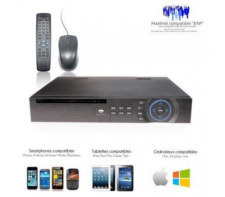 dvr dahua - DVR 8 canaux professionnel, Full D1, sortie SPOT, supporte 2 disques durs pour redondance - DVR-2067/50