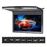 17,3'coche monitor de techo MP5 Flip Down techo de montaje del coche reproductor de DVD con IR Transmisor FM HDMI USB SD juegos de altavoces