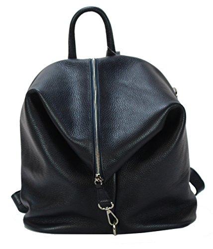 BZNA Bag Mara Dunkelblau blue Backpacker Designer Rucksack Ledertasche Damenhandtasche Schultertasche LederItalyNeu
