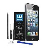 MMOBIEL Akku für iPhone 5 Li-Ion Batterie 3.8V 1440mAh 5.45Wh mit professionellem Werkzeugset und Anleitung