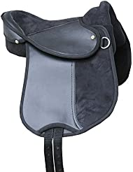 Pony Equitación Cojín Pony Sillín con asidero, Negro. También fà ¼ r Madera caballo Kids Saddle