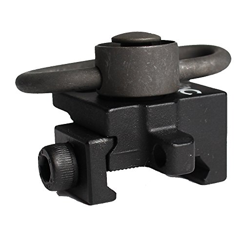 Universal Jagd Taktische Airsoft Push Button Schnell abziehen Gun Sling Swivel Mount Fit 20mm Weaver Picatinny Rails (Rail Sling Swivel)