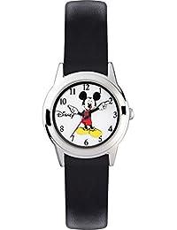 Mickey Mouse Reloj Analógico de Cuarzo Unisex con Correa de Cuero – MK1314
