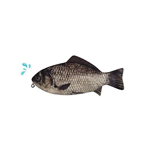 Preisvergleich Produktbild Befaith große Kapazität Neuheit Großfische Wallet Geldbörse Stift Bleistift Case Handy Tasche Make-up Lagerung Tasche Veranstalter, 31 cm x 14 cm (Karpfen Federmäppchen)