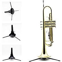 Anself Trompeta soporte trípode de metal pierna desmontable portátil plegable