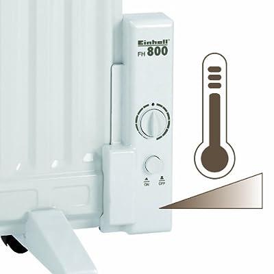 Einhell Elektro Heizung FH 800 (800 Watt, Thermostat, Stand- oder Wandgerät, mit Lenkrollen) von Einhell bei Heizstrahler Onlineshop