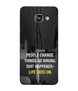 FUSON Designer Back Case Cover for Samsung Galaxy A5 (6) 2016 :: Samsung Galaxy A5 2016 Duos :: Samsung Galaxy A5 2016 A510F A510M A510Fd A5100 A510Y :: Samsung Galaxy A5 A510 2016 Edition (Illustration Inspiration Change Motivate )