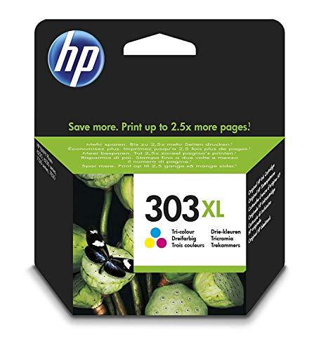 HP 303XL T6N03AE haut rendement, cartouche d'encre Authentique, imprimantes HP Tango et HP ENVY Photo, trois couleurs (Cyan, Magenta, Jaune)