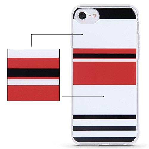 iPhone 7 Hülle (4.7 Zoll), Imikoko® Weiche TPU Rahmen mit Hartem PC Rückdeckel Schutzhülle Bumper Case Hülle für iPhone 7 Farbe 8