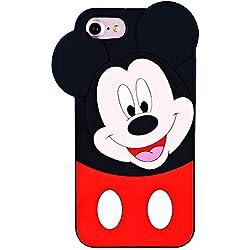 Leosimp Minnie Coque pour iPhone, Silicone Caoutchouc, iPhone 5/SE/5C/5S Mickey, iPhone5 / iPhoneSE / iPhone5S