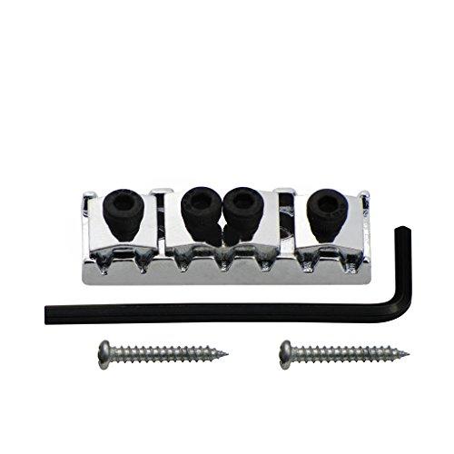 FLEOR tuercas de bloqueo de metal cromado Trémolo 48mm para Floyd Rose Guitarra eléctrica (7cuerdas doble sistema de bloqueo