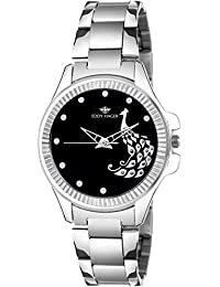 Eddy Hager Analogue Black Dial Women's Watch (Eh-444-Bk)