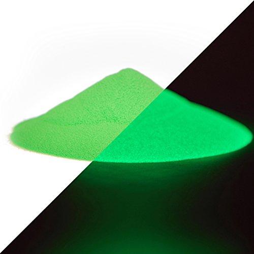 lumentics Bujía polvo con verde fluorescente color–selbstleucht Extremo pigmentos de colores, nachleucht pigmento, nachleucht polvo, polvo de colores, bombilla polvo, Negro (40g, rayos ultravioleta, luz verde)