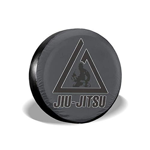 Xhayo Waterproof Reifentaschen Autorädertaschen,Jiu Jitsu Logo staubdicht Radreifenabdeckung für Anhänger,RV,SUV,LKW und mehr -
