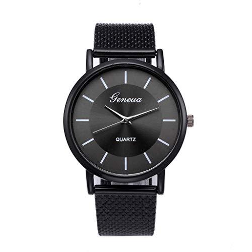 Mitlfuny Unisex Männer Frauen Mode Armbanduhren 2019,Klassische Herrenuhr Handgelenk Silikon Mesh Gürtel Uhrenarmband Quarz Beiläufige Uhren