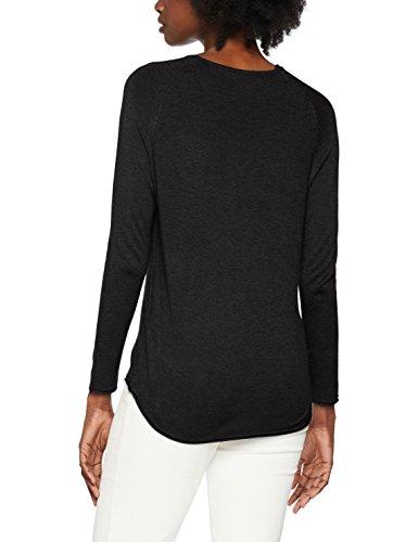 Only Onlmila Lacy L/S Pullover Knt Noos, Pull Femme Noir (Black Black)