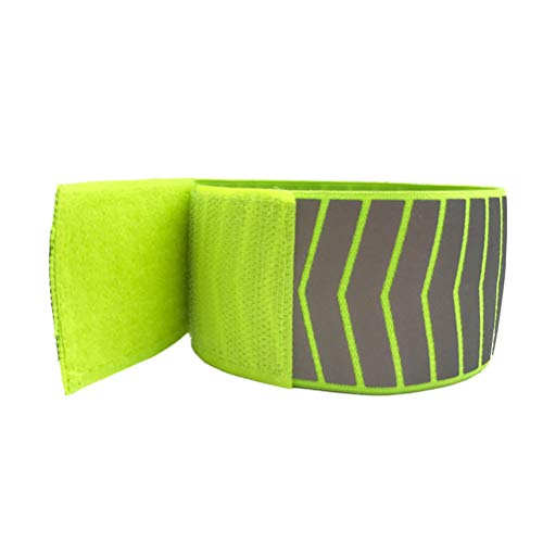 Vosarea Reflektierende Running Gear Armband, 4pcs Armbänder Reflektierende Leuchtende Armband für Konzerte und Party Supplies (Grün)