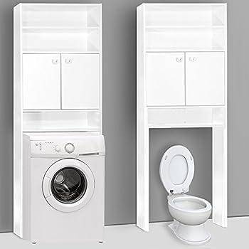 Lieblich Deuba Badezimmerschrank Für Waschmaschine Waschmaschinenschrank    Badschrank Badhochschrank Badregal   195 X 63 X 20 Cm