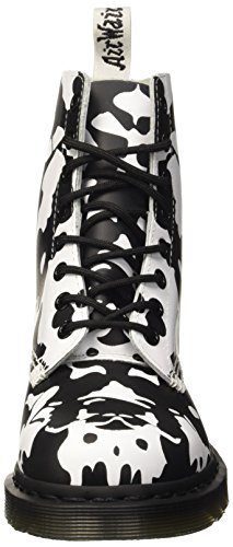 Dr. Martens Pascal Backhand, Brogues Mixte Adulte Multicolore (White/Black)