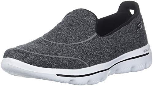 Skechers Damen Go Walk Evolution Ultra-dedic Slip On Sneaker, Schwarz (Black White BKW), 39 EU (Skechers Go Walk Schuhe Für Frauen)