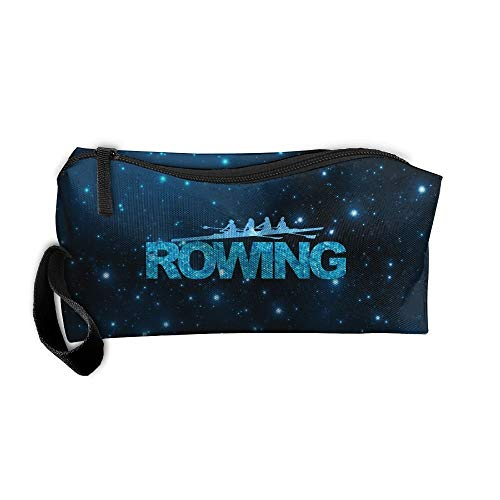 Blue Happy Rowing Travel Toiletry Bag Pencil Bag Handbag Organizer -