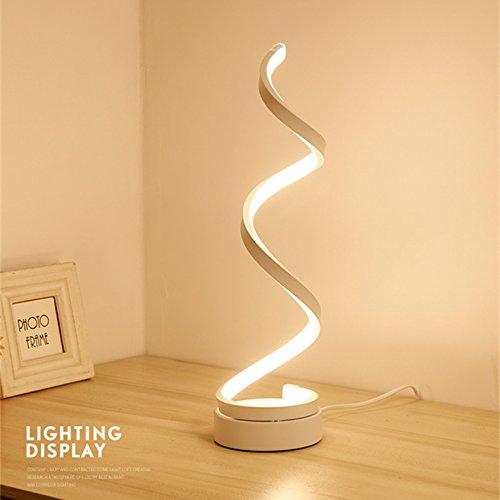 Tischleuchte die einfache konstruktion wohnzimmer weiße spirale führte 21-30w lampe -