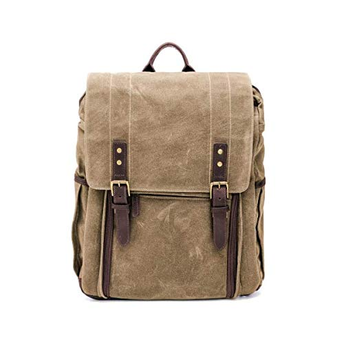 ONA Bags Fotorucksack, The Camps Bay Field Tan, Canvas, beige, Fotorucksack mit Laptopfach