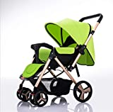 Best Pet 3 Wheel Strollers - AGGK Baby stroller High landscape Two-way Sitting Seated Review