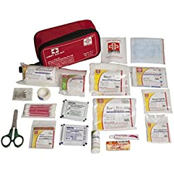 TRAVEL FIRST AID KIT MEDIUM - ST JOHNS FIRST AID - NYLON POUCH -63 COMPONENTS - SJF T3