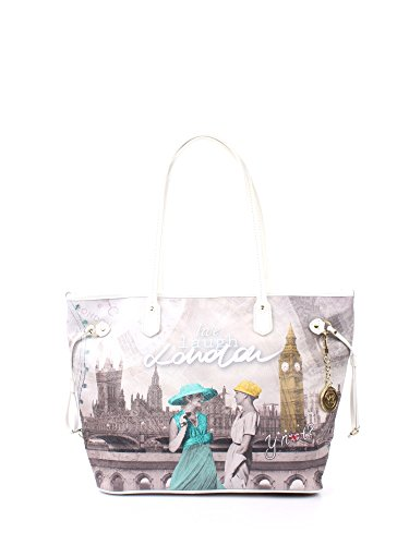 Borsa donna Shopping grande Y Not stampa London Party - Serie Yes Bag Instant - (Serie 319)