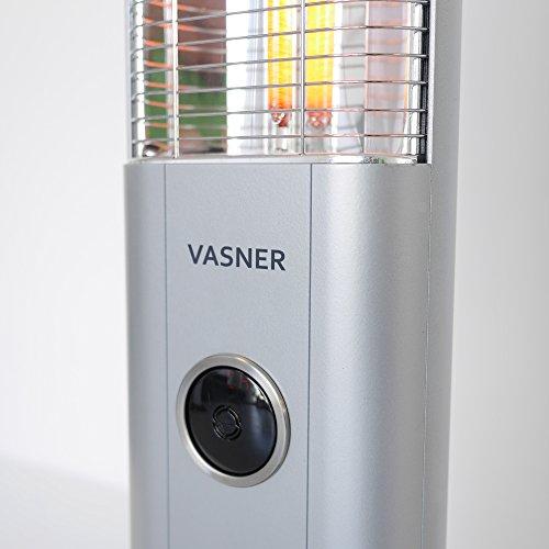 VASNER StandLine 25R | Stand-Heizstrahler Infrarot 2500 Watt – Silber grau – Fernbedienung kaufen  Bild 1*