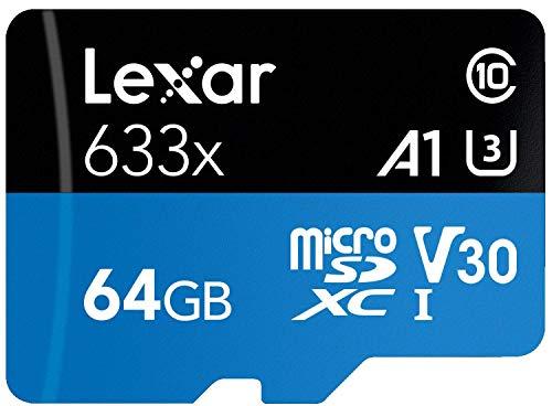 LEXAR HIGH-Performance 633x MICROSDXC UHS-1,A1,V30 CLASS10, 95MB/S (64GB)