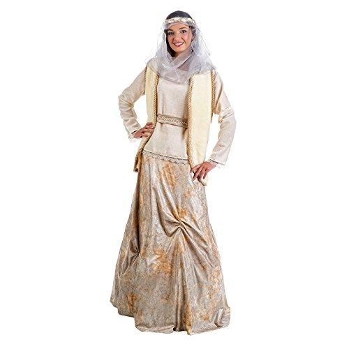 Mittelalterliche Prinzessin Kostüm Damen 5tlg Bluse, Rock, Tuch, Schärpe, Weste beige zum Karneval - (Womens Kostüme Prinzessin Renaissance)