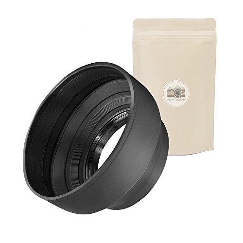 55mm Paraluce morbida in gomma per obiettivo 55mm Parasole Parasole Flessibile di obiettivo compatibile con tutte le marche Canon Fuji Fujifilm Leica Nikon Olympus–adaptout marca francese