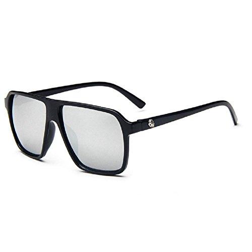 O-C da uomo Classico & Fashion WAYFARER occhiali da sole Lenti 55mm di larghezza Black (Novità Collezione Sole)
