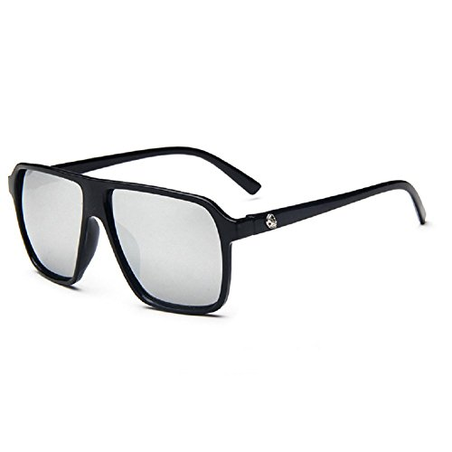 O-C da uomo Classico & Fashion WAYFARER occhiali da sole Lenti 55mm di larghezza Black frame,White lens