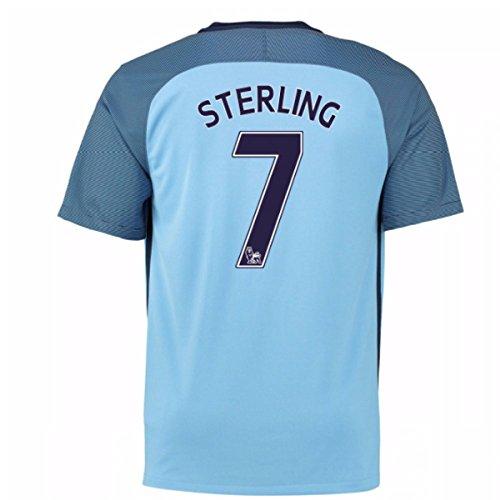 Man City Home Shirt (2016-17 Man City Home Shirt (Sterling 7))