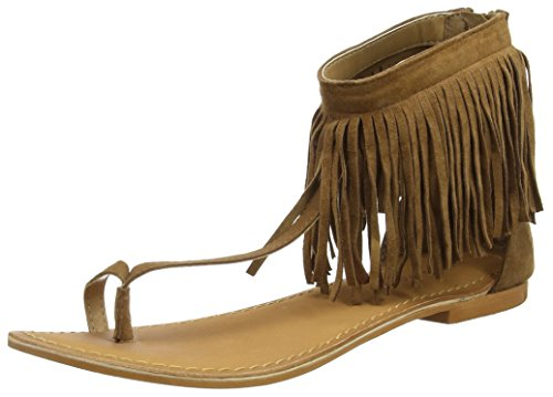 VERO MODAVMKATE LEATHER SANDAL - Infradito Donna , Marrone (Cognac), 39