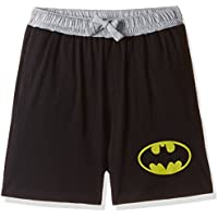 Batman Men's Cotton Shorts (8903346598922_BM0ESH193_Small_Black)