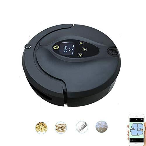 ZZAZXB Roboter Staubsauger Wi-Fi-Steuerung, Selbstaufladung, Visuelle Karte, Hohe Saugkraft Für Tierhaare Und Allergene, Hartböden Und Teppiche,Navy