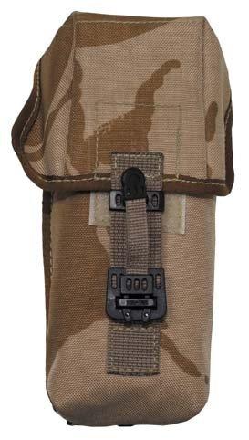 Brit. Munitionstasche, MOLLE, DPM desert tarn, gebr.