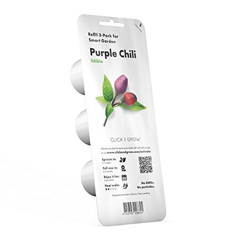 Galleria fotografica Capsule Peperoncino Purple Chili Click and Grow - Confezione da 3 pezzi