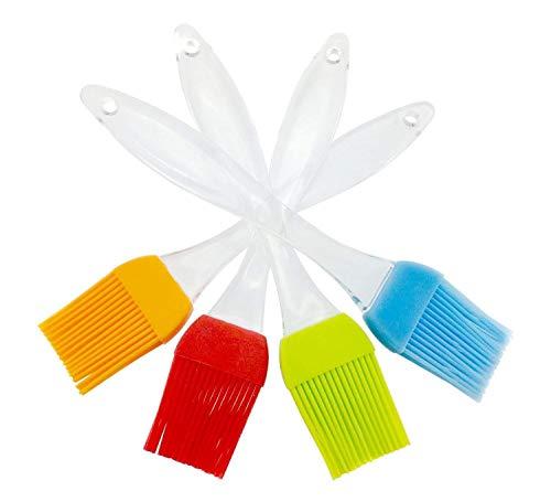 iNeibo Silikon Backpinsel 4er-Set hitzebeständig und Spülmaschinenfest. 4 Farben